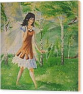 Spirit Of The Dew Wood Print
