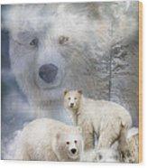 Spirit Of The White Bears Wood Print