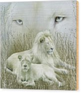 Spirit Of The White Lions Wood Print