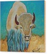 Spirit White Buffalo Wood Print