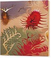 Spirits And Roses Wood Print