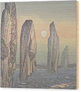 Spirits Of Callanish Isle Of Lewis Wood Print