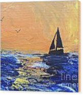Spirits Rise As The Sails Fill Wood Print