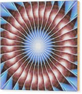 Spiritual Pulsar Kaleidoscope Wood Print by Derek Gedney