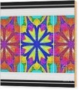 Spirituality - Life Lights - Kaleidoscope - Triptych Wood Print