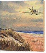Spitfire Mk9 - Over South Coast England Wood Print