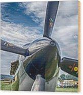 Spitfire Prop   7d03705 Wood Print