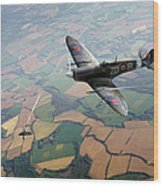 Spitfire Victory Wood Print