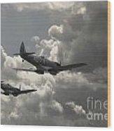 Spitfire Wingman Wood Print