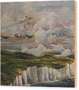 Spitfire's Over Dover Wood Print