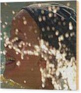 Splash And Giggle Wood Print