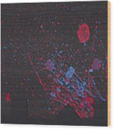 Splash Wood Print by Chibuzor Ejims