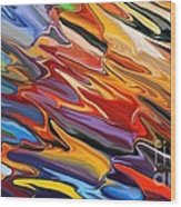 Splash Of Colour Wood Print