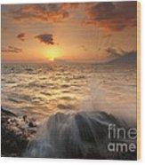 Splash Of Paradise Wood Print by Mike  Dawson