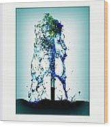 Splashing Fountain Wood Print