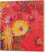 Splashy Floral II Wood Print