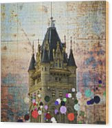 Splattered County Courthouse Wood Print