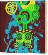 Splattered Series 1 Wood Print