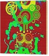 Splattered Series 10 Wood Print