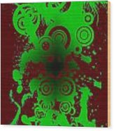 Splattered Series 12 Wood Print