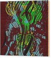 Splattered Series 2 Wood Print