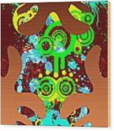 Splattered Series 9 Wood Print
