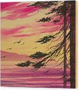 Splendid Sunset Bay Wood Print