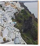 Splendor Of Santorini Wood Print