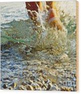 Splish Splash Wood Print by Heiko Koehrer-Wagner