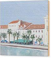 Split Croatia Adriatic Coast Wood Print