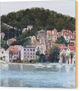 Split Harbour Croatia Wood Print