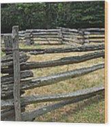 Split Rail Corral Wood Print