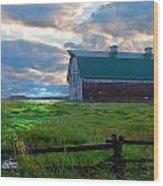 Split Rail Fence Barn Wood Print