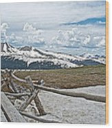 Split Rail Fence Near Alpine Visitor's Center In Rocky Mountain Np-co Wood Print
