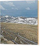 Split Rail Fence On East Side Of Trail Ridge Road In Rocky Mountain National Park-colorado Wood Print