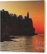 Split Rock Lighthouse - Sunrise Wood Print