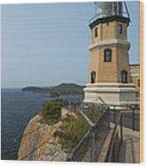 Split Rock Lighthouse 100 Wood Print