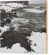 Split Rock Lighthouse Winter 17 Wood Print