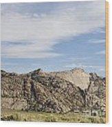 Split Rock Wyoming Wood Print