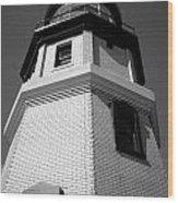 Splitrock Lighthouse 3 Bw Wood Print