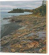 Splitrock Shoreline Wood Print
