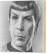 Spock - Fascinating Wood Print
