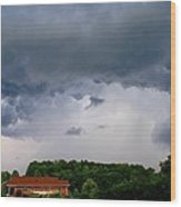 Spoiling For A Storm Wood Print