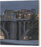 Spokane Cityscape Wood Print by Michael Gass