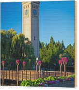 Spokane Clocktower Wood Print