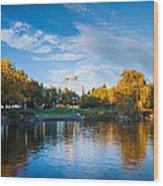 Spokane Reflections Wood Print