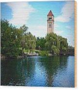 Spokane Riverfront Park Wood Print
