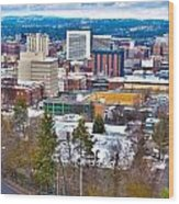 Spokane Washington Wood Print