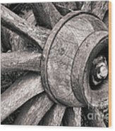 Spokes And Axle Wood Print
