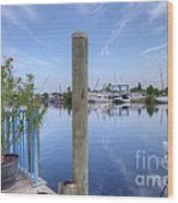 Sponge Boat Docks 2  Wood Print